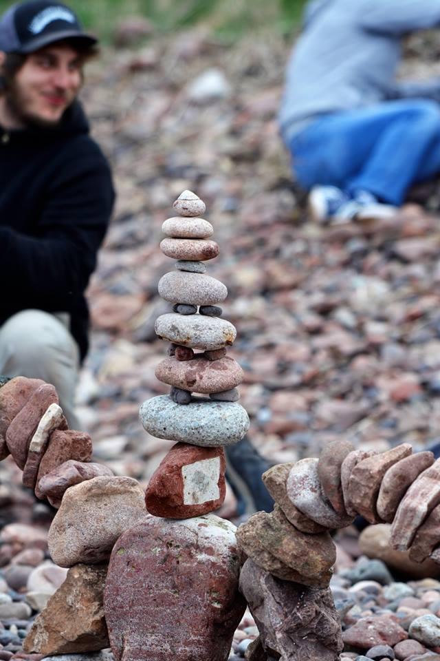 European Stone Stacking Championship 2017 stone balance 14