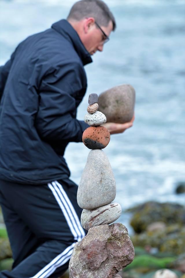 European Stone Stacking Championship 2017 stone balance 6